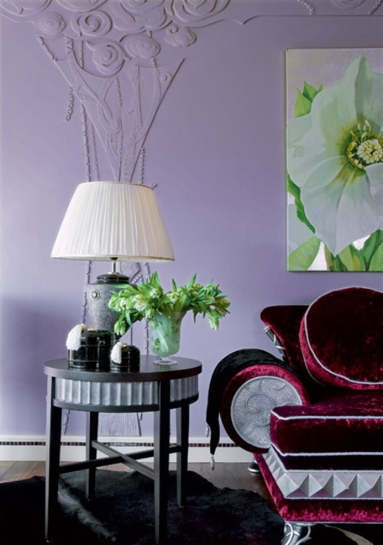Home Decor Design Traditional And Art Deco Apartment With Lilac And