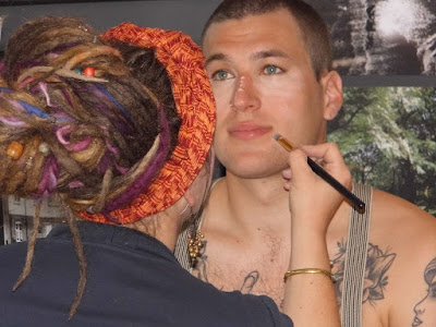 Mystic Magic, behind the scenes, makeup, artistry, Mrs Kitsch, photo shoot, male modelling,