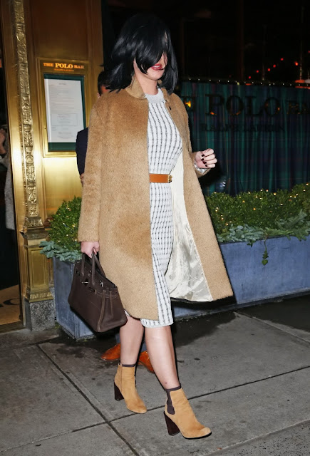 Actress, Singer, @ Katy Perry - Leaving the Polo Bar in NYC