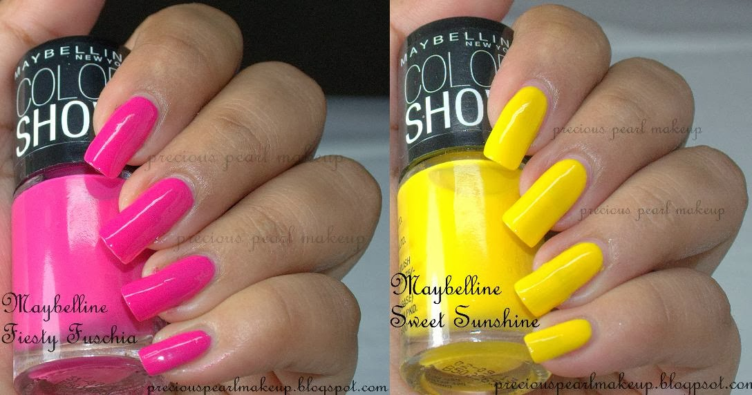 preciouspearlmakeup: Maybelline Color Show Nail Lacquers in Fiesty ...