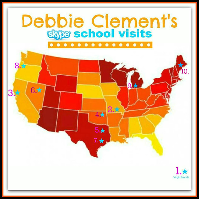 photo of: Debbie Clement' first 10 Cyber School Visits!
