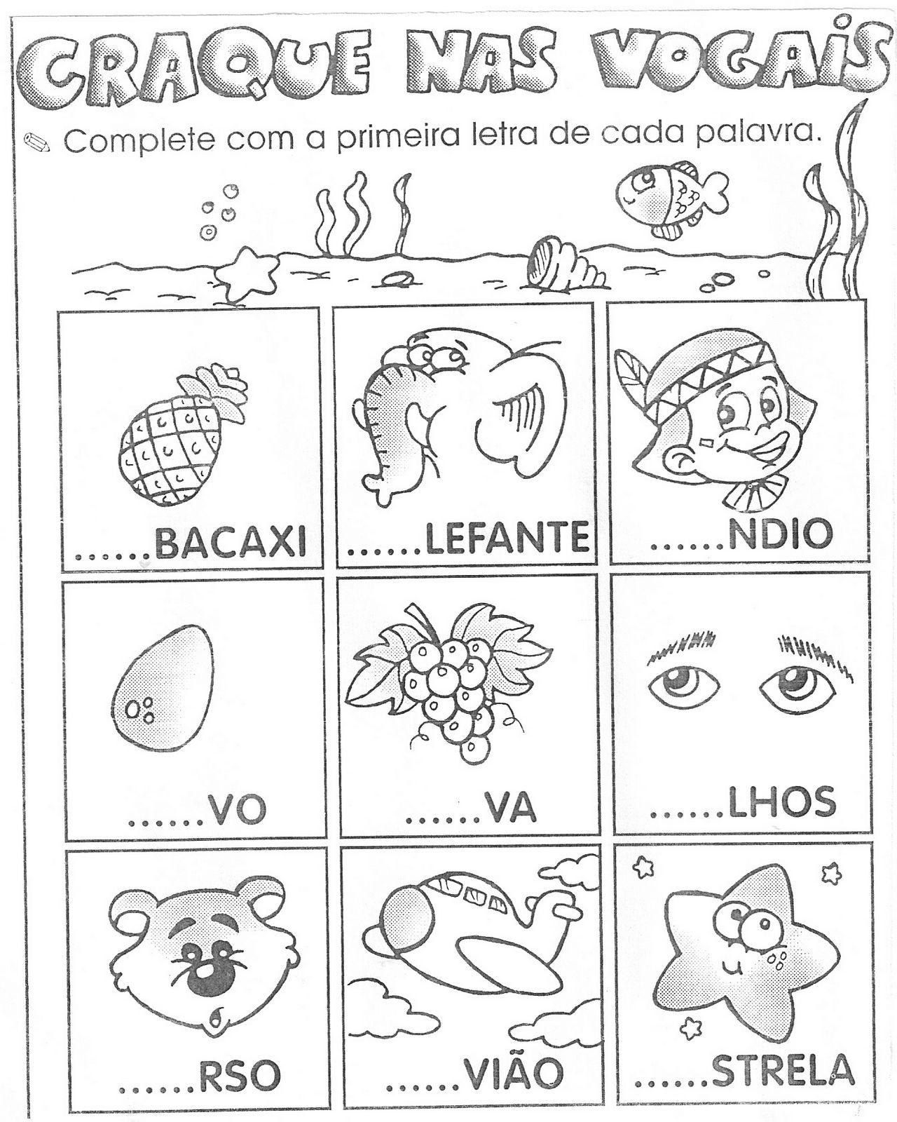 Populares Alegria de Aprender na Educação Infantil: ATIVIDADES PARA  KJ32