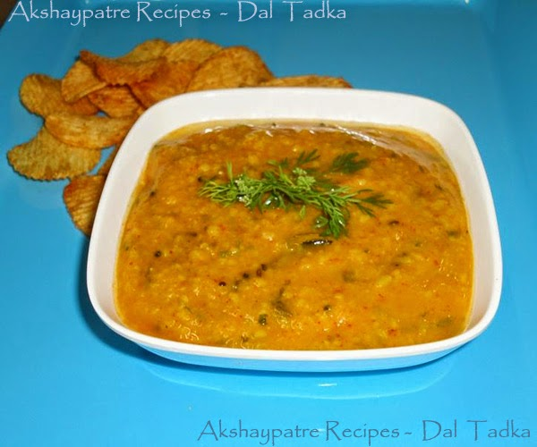 dal tadka in a serving bowl