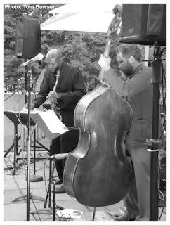 David Boykin - Tenor Saxophone - Joshua Abrams - Double Bass | MCA Chicago Free Jazz Tuesdays| Photograph by Tom Bowser