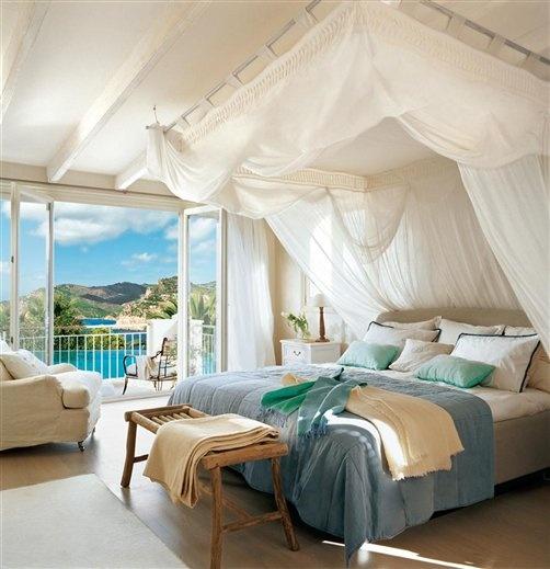 Decoraci n f cil camas con dosel for Camas con cortinas