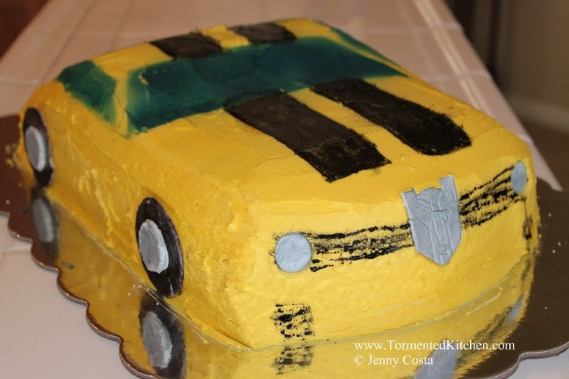 Tormented Kitchen Transformers Bumblebee Birthday Cake