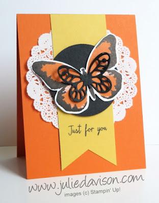 Stampin' Up! Watercolor Wings Card #stampinup www.juliedavison.com