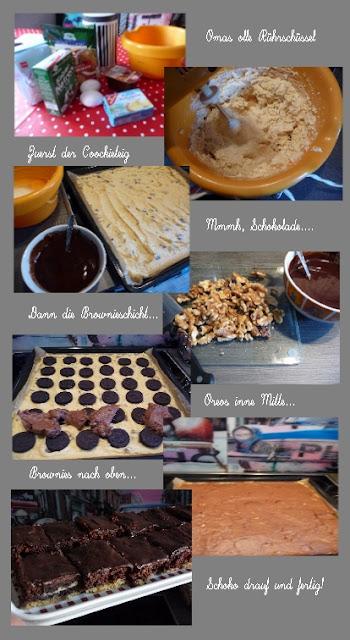 Cookies Brownies Oreo Boden Kuchen backen