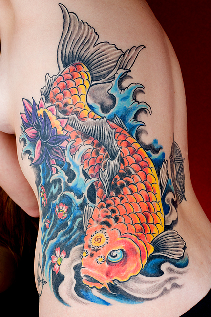 Koi fish tattoo designs for Japanese koi design