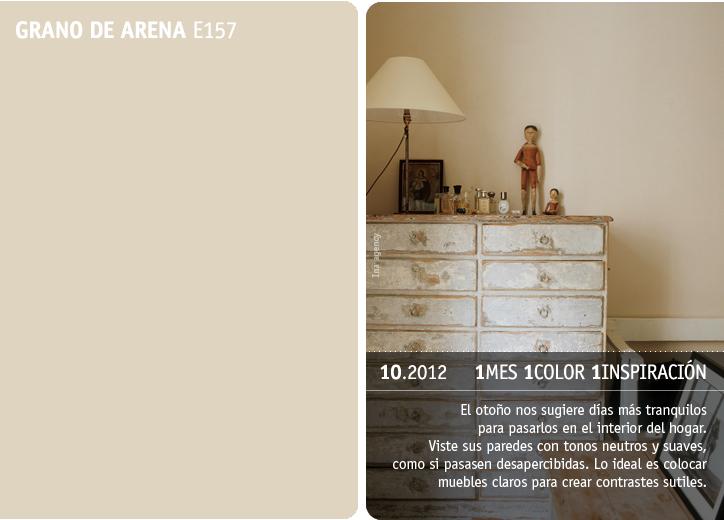 Valentine propone el color grano de arena para el oto o - Gama de colores grises para paredes ...