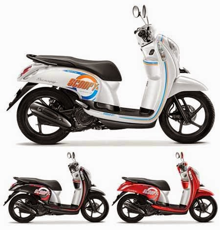 warna terbaru Honda Scoopy 2015 Sporty