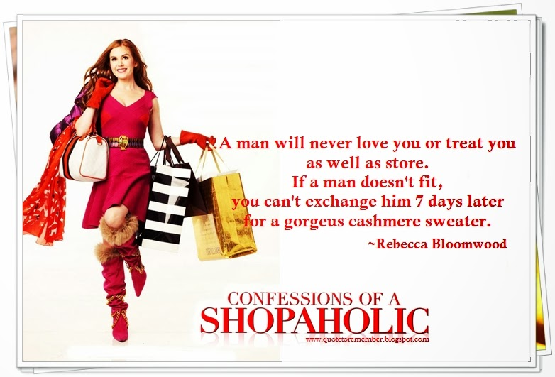 Image Gallery shopaholic quotes