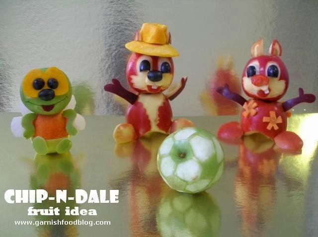 chip-b-dale fruit sculpture