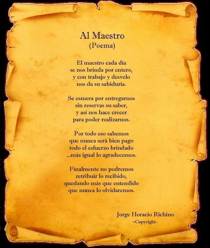 Poemas De Agradecimiento Para Maestros