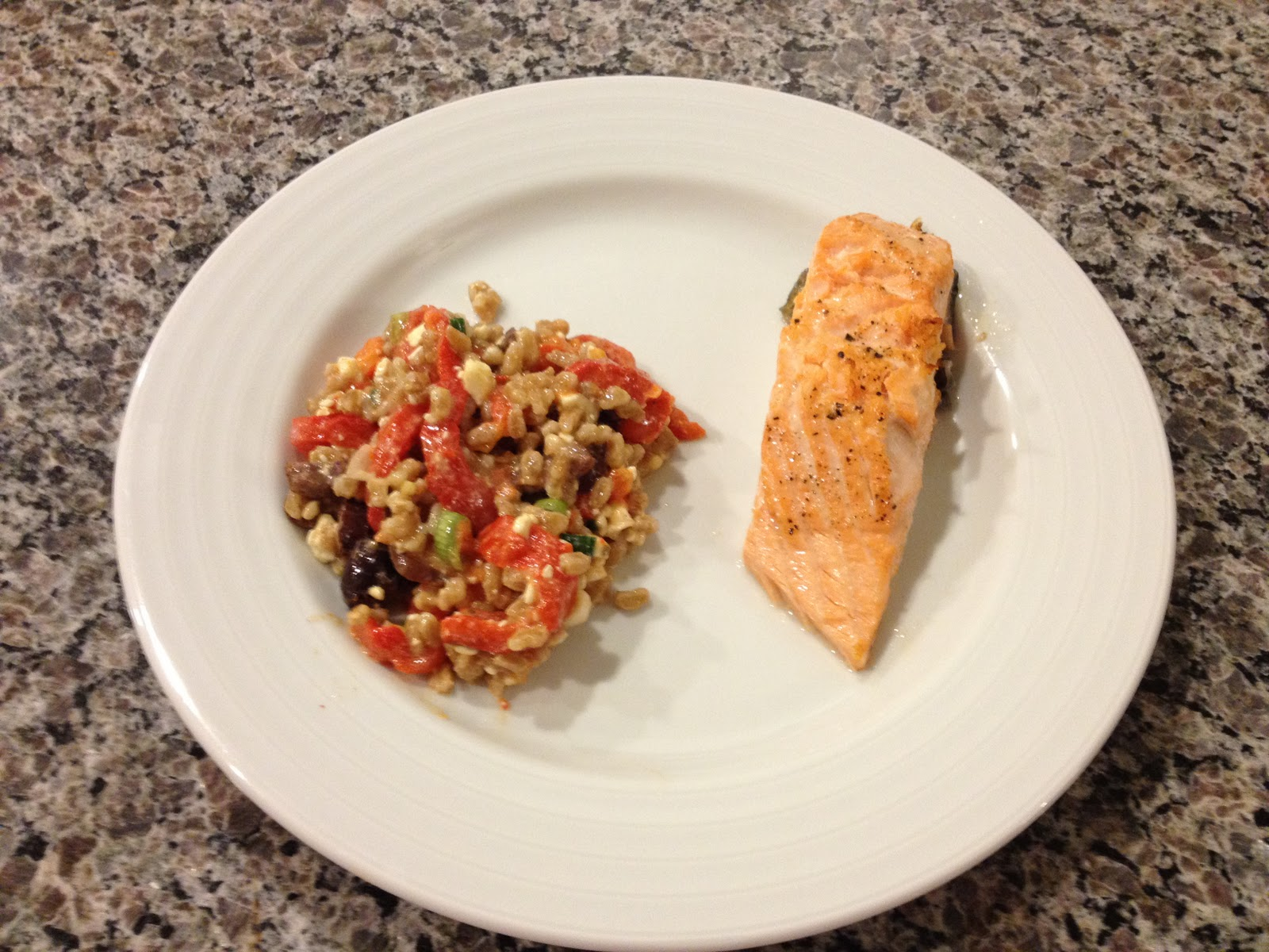 Eat, Think, and Be Married: Farro and Roasted Pepper Salad