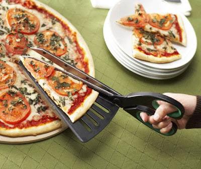 Cortador y despachador de triángulos de Pizzas