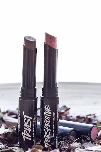 Lipsticks de Lush Oxford St. Perspective y Trust