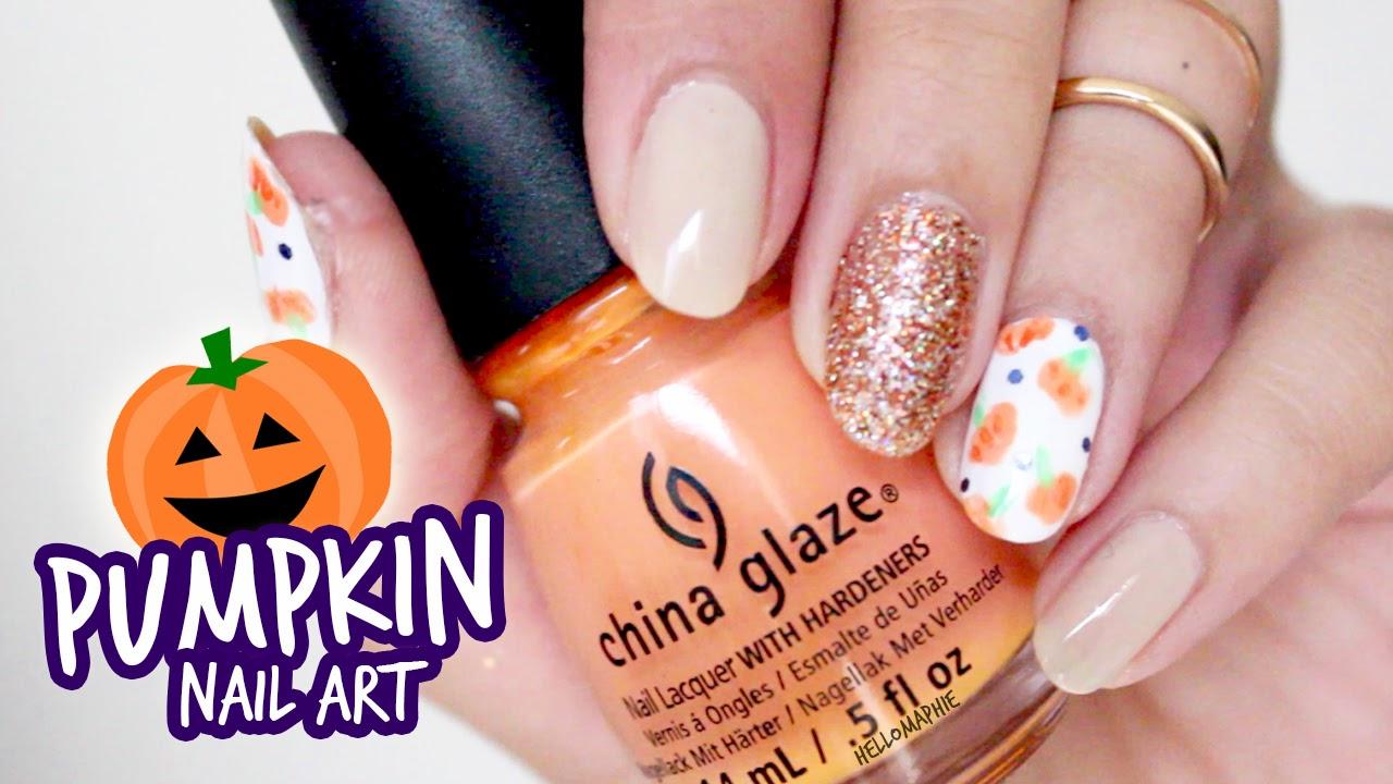 Hellomaphie Easy Pumpkin Nail Art For Beginners