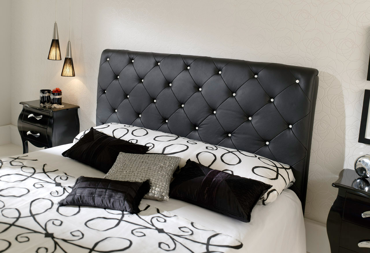 the shopping online deco lit capitonne. Black Bedroom Furniture Sets. Home Design Ideas