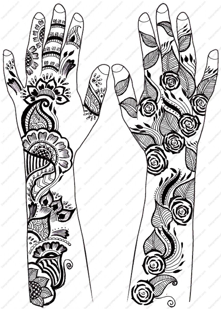 Simple Mehandi Design Drawing | www.imgkid.com - The Image ...