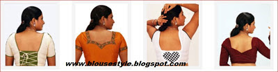 back neck different shapes models of blouse