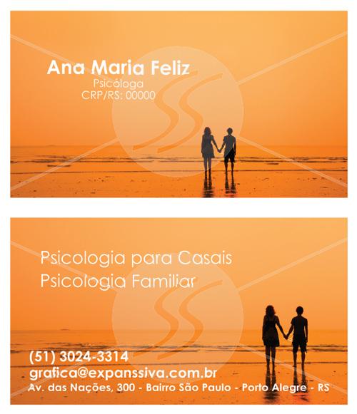 cartoes de visita de psicologia para casais - Cartões de Visita para Psicólogos