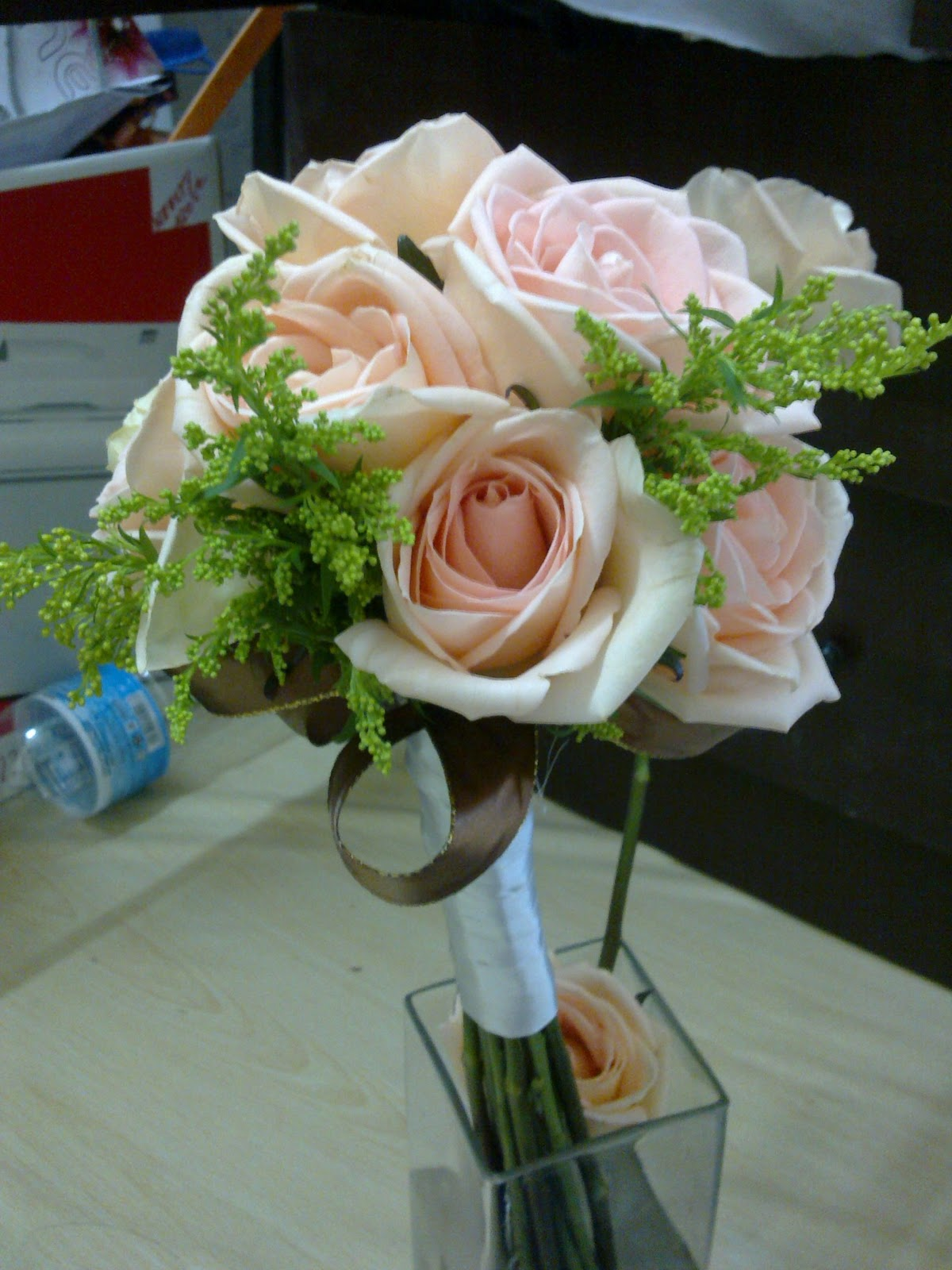 Fresh flower for a perfect event first ever hand bouquet for gold choco theme izmirmasajfo Choice Image