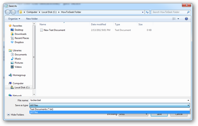 Cara Memberikan Password Pada Folder Tanpa Software