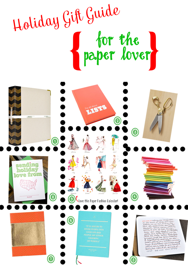 Gift Guide 2012 All Things Paper