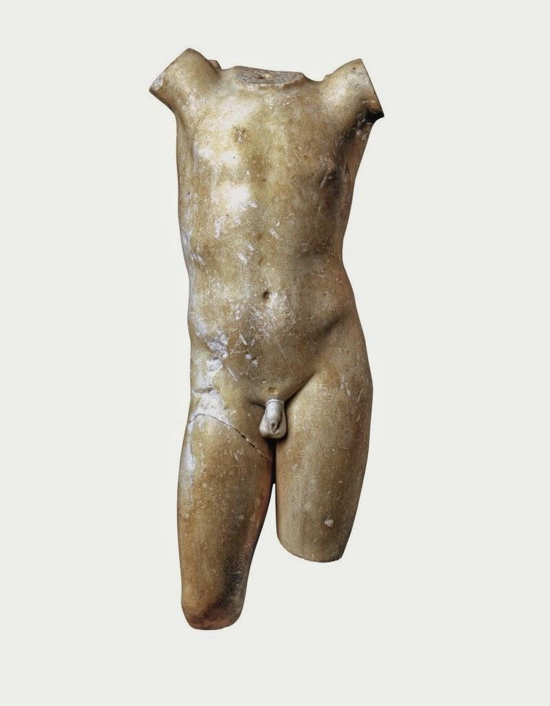 Torso de Eros. Finales del siglo I aC- I dC. Staatliche Kunstsammlungen Dresden