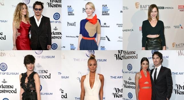 Cate Blanchett, Ian Somerhalder , Madonna , Johnny Depp et Amber Heard au fête de Golden Globes 2016