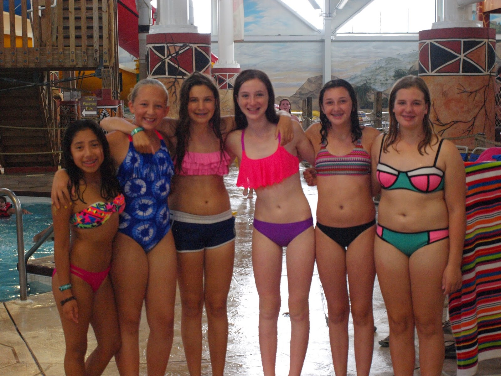 young teen girls water park