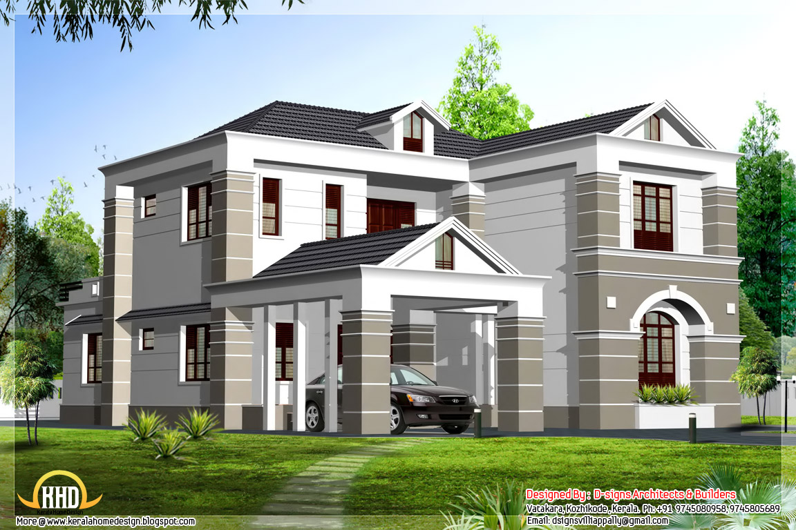 Simple sloppy box elevation 2700 home appliance for Simple house plans india