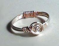 Rosette Ring I made by Tamara McFarland  tutorial