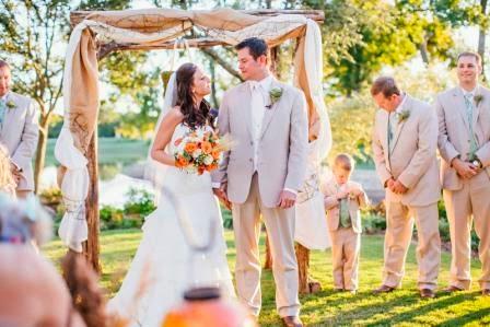 Texas Ranch Wedding, McGowan Images, Recessional, Bride & Groom