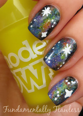 Neon Galaxy Nails with Models Own Luis Lemon on Fundamentally Flawless