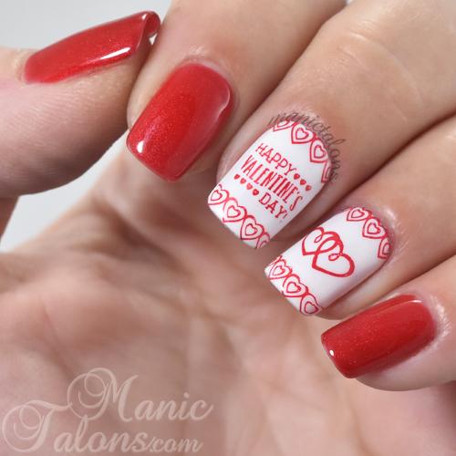 Valentine's Day Nail Art, Nail Stamping