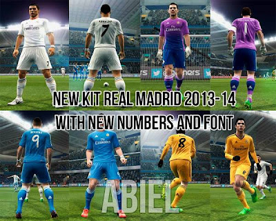 Real Madrid Kit 2013-2014 (New Font & Numbers) by Abiel