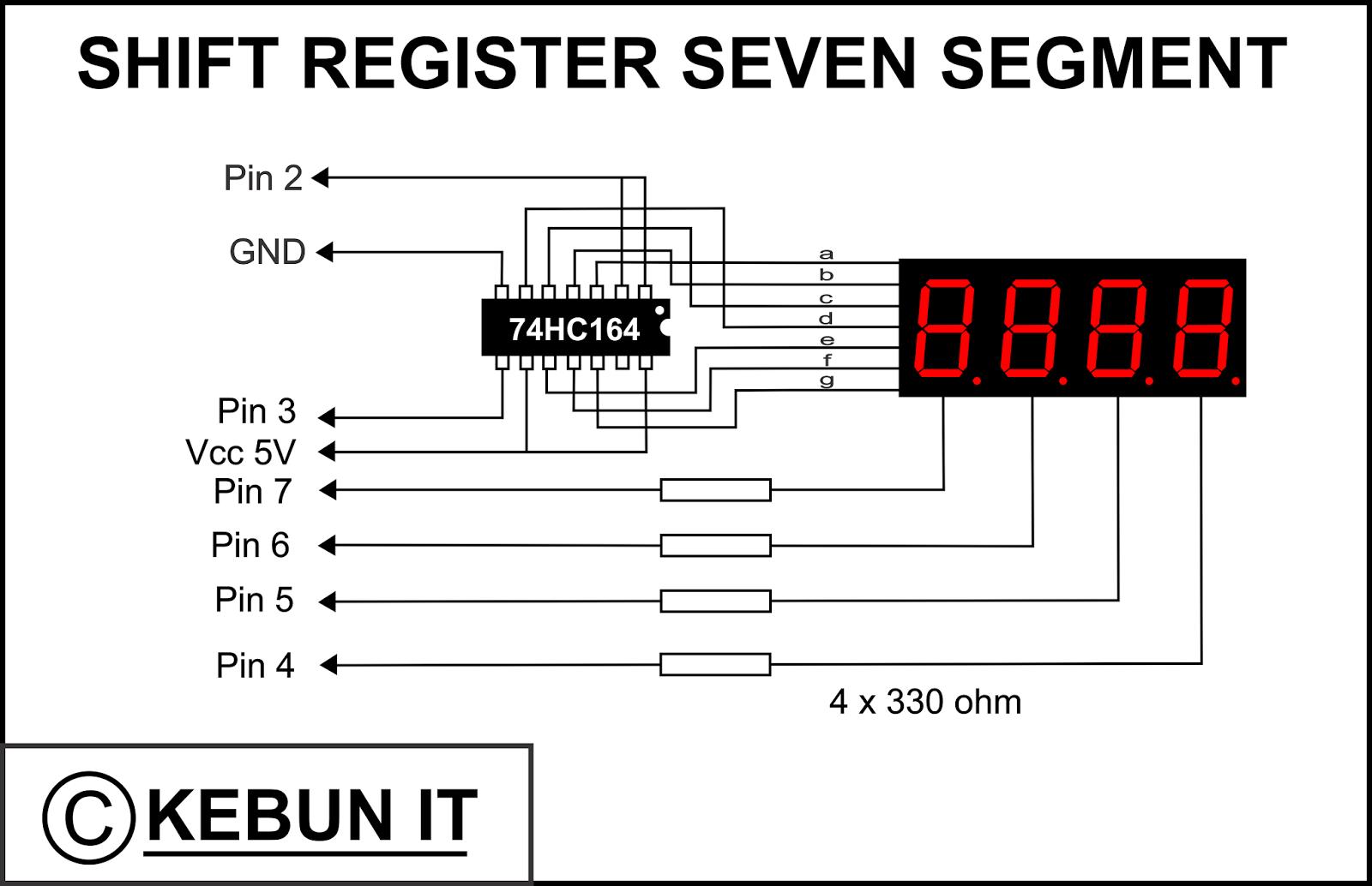 kebun it arduino 4 seven segment 1 ic shift register