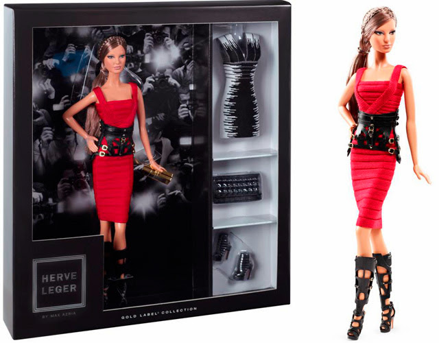 limited edition Herve Leger by Max Azria Barbie