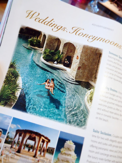 Brides Magazine: Secret Resort & Spa, Mexico.