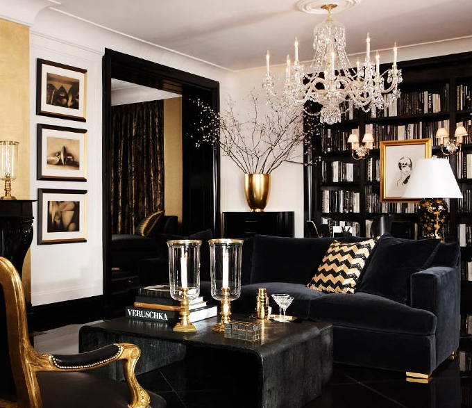 Black and Gold Interior Design