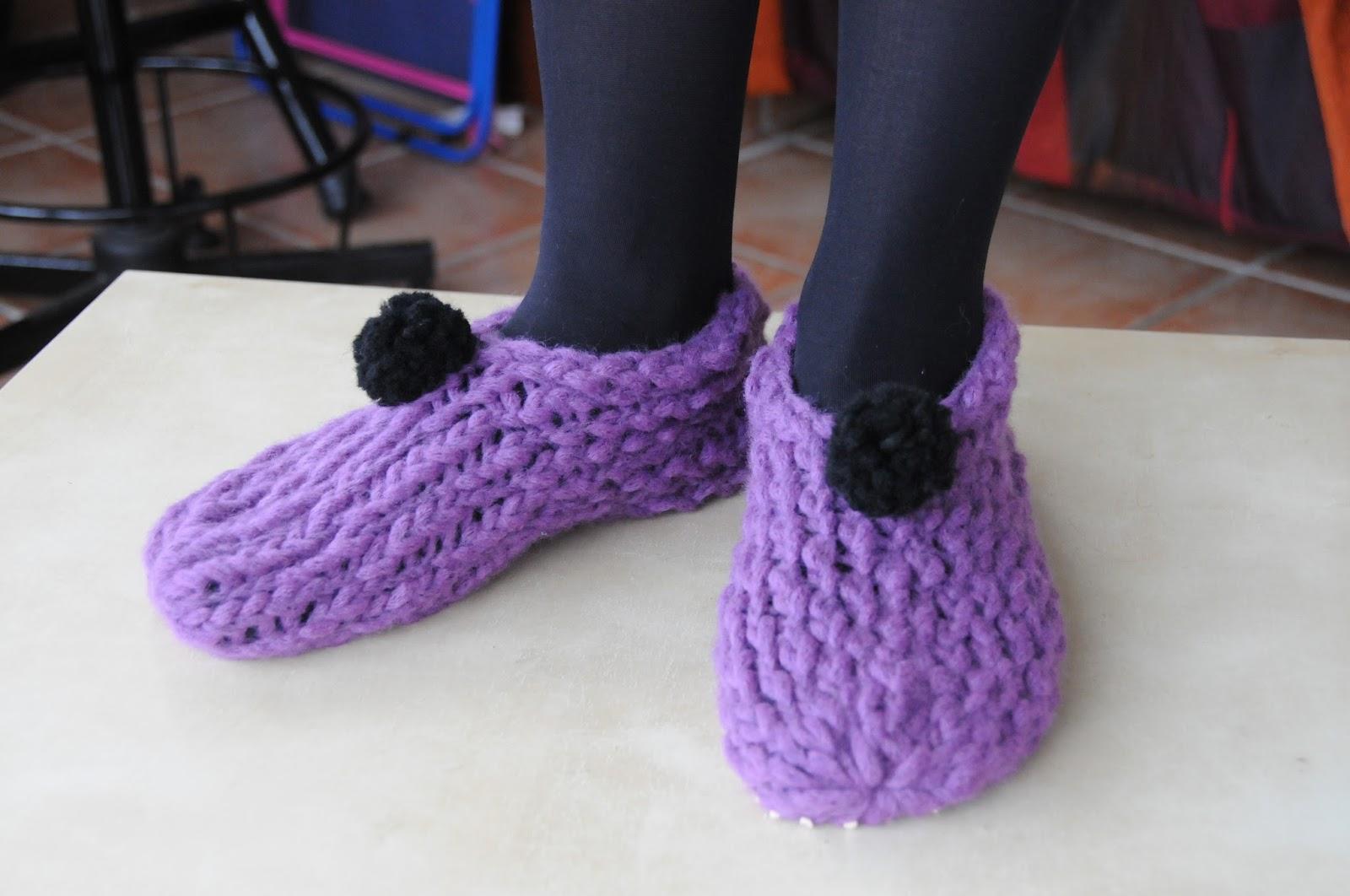 du bout des doigts tricotin g ant chaussons. Black Bedroom Furniture Sets. Home Design Ideas