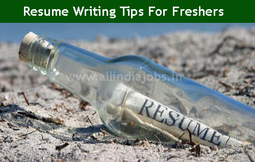 best resume writing tips for freshers