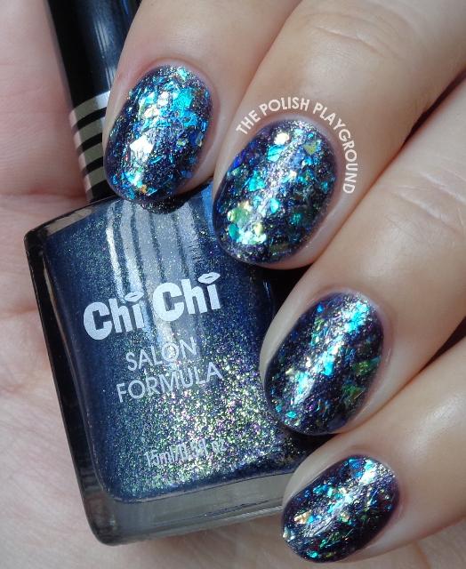 Shattered Glass Inspired Nail Art