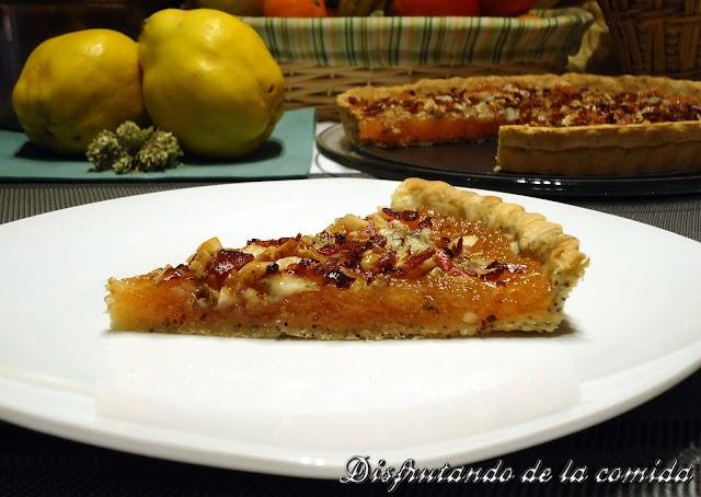 Tarta de Membrillo y Gorgonzola con Bacon Crujiente