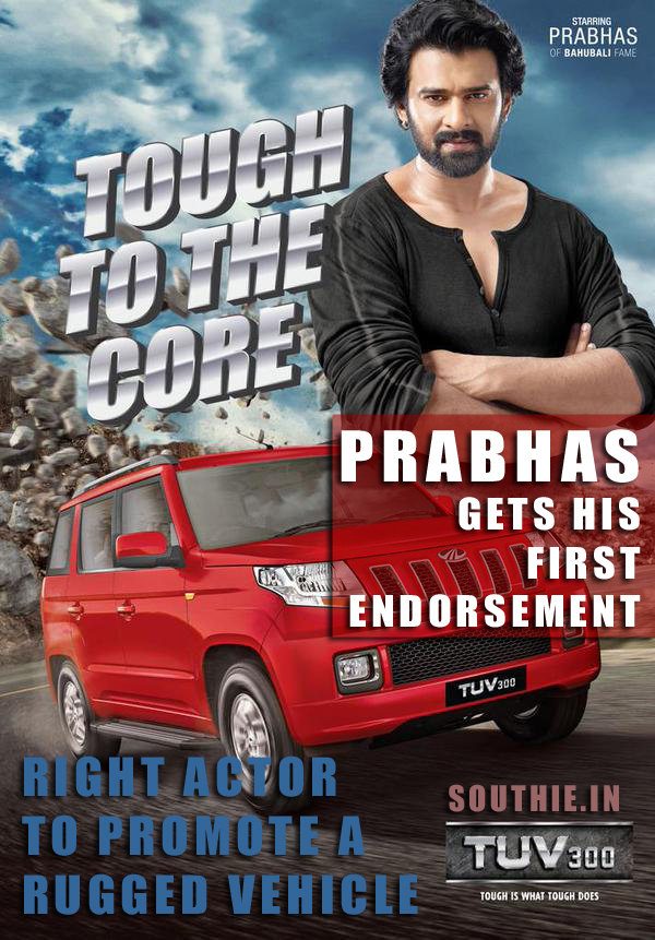 Prabhas gets his first endorsement, Tough Prabhas for a Tough Vehicle. Rugged and Handsome Prabhas promotes TUV 300. Muscular Prabhas, Handsome Prabhas, Prabhas Body, Poster HD