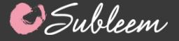 je suis inscrite au site Subleem