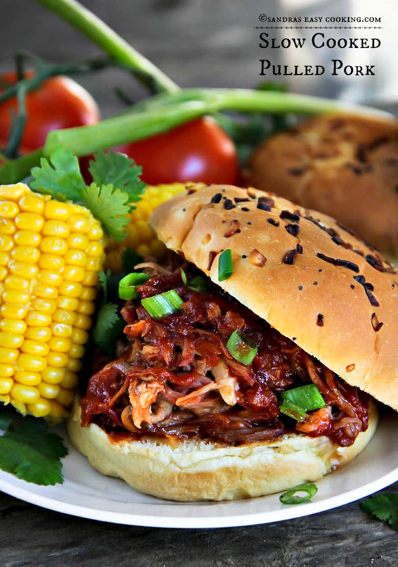 Slow Cooked Pulled Pork With Southern Bbq Sauce