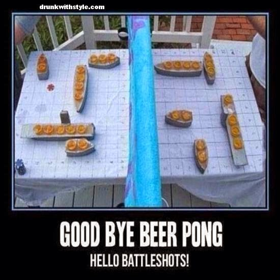 Good Bye Beer Pong Hello Battleshots Funny Drinking Game